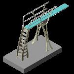 DURAFLEX  - Model de stand cu trambulina 3 M
