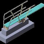 DURAFLEX  - Model de stand cu trambulina 1 - 3 M