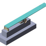 DURAFLEX  - Model de stand cu trambulina 1 M